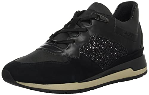 UK Geox respira Shahira a black sneakers women low shoes :