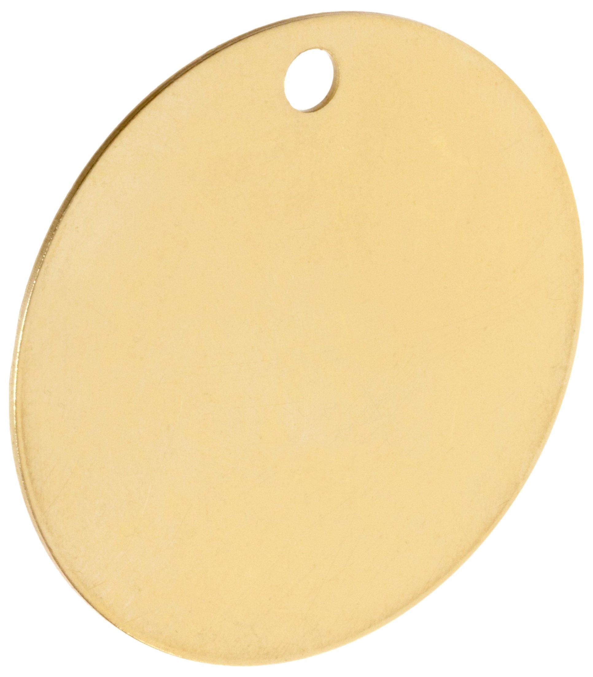 Brady 23211 2'' Diameter B-907 Brass Round Blank Brass Valve Tags (Pack Of 25) by Brady (Image #1)