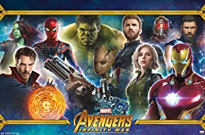 "Trends International Marvel Cinematic Universe - Avengers - Infinity War - Team Wall Poster, 22.375"" x 34"", Premium Unframed"
