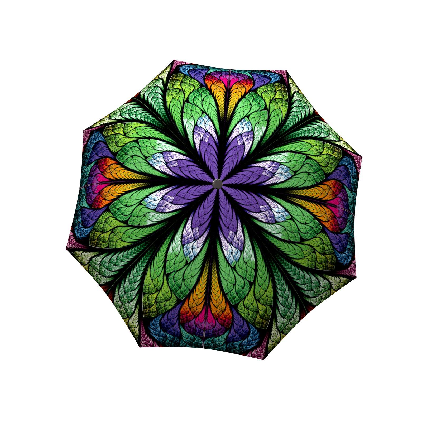 LA BELLA UMBRELLA Peacock Designer Unique Art Travel Fashion Umbrella in Stylish Gift Box - Windproof Folding Automatic Open Close