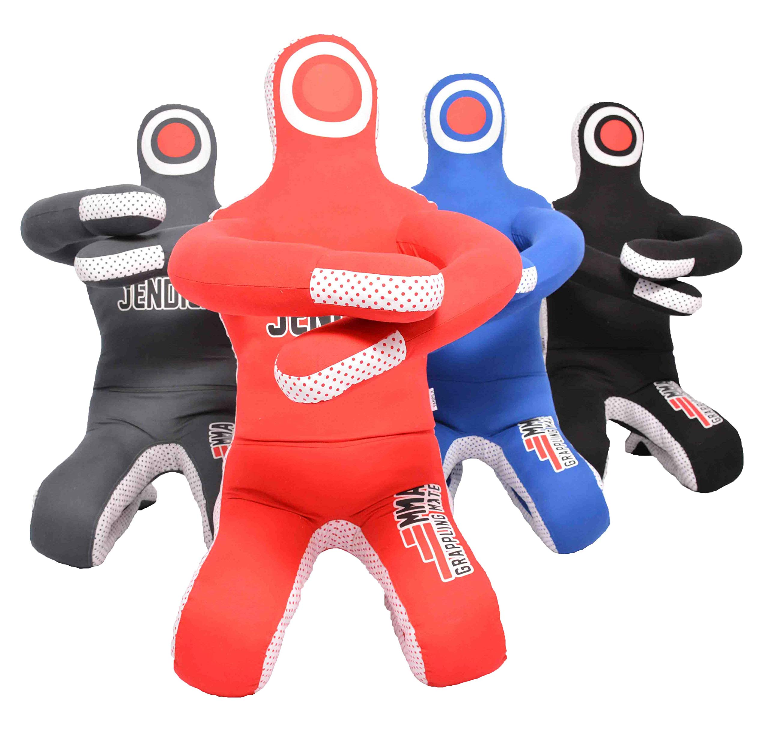 Grappling Dummy MMA Jiu Jitsu - Grappling Wrestling Dummy - Made from Durable Canvas Fabrics - MMA Dummy for Multiple Drills UNFILLED (Red, 42'') by Jendila