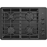 GE JGP3030DLBB 30 Inch Gas Cooktop with MAX System, Power Broil, Simmer, Continuous Grates, Sealed Burners and ADA Compliant