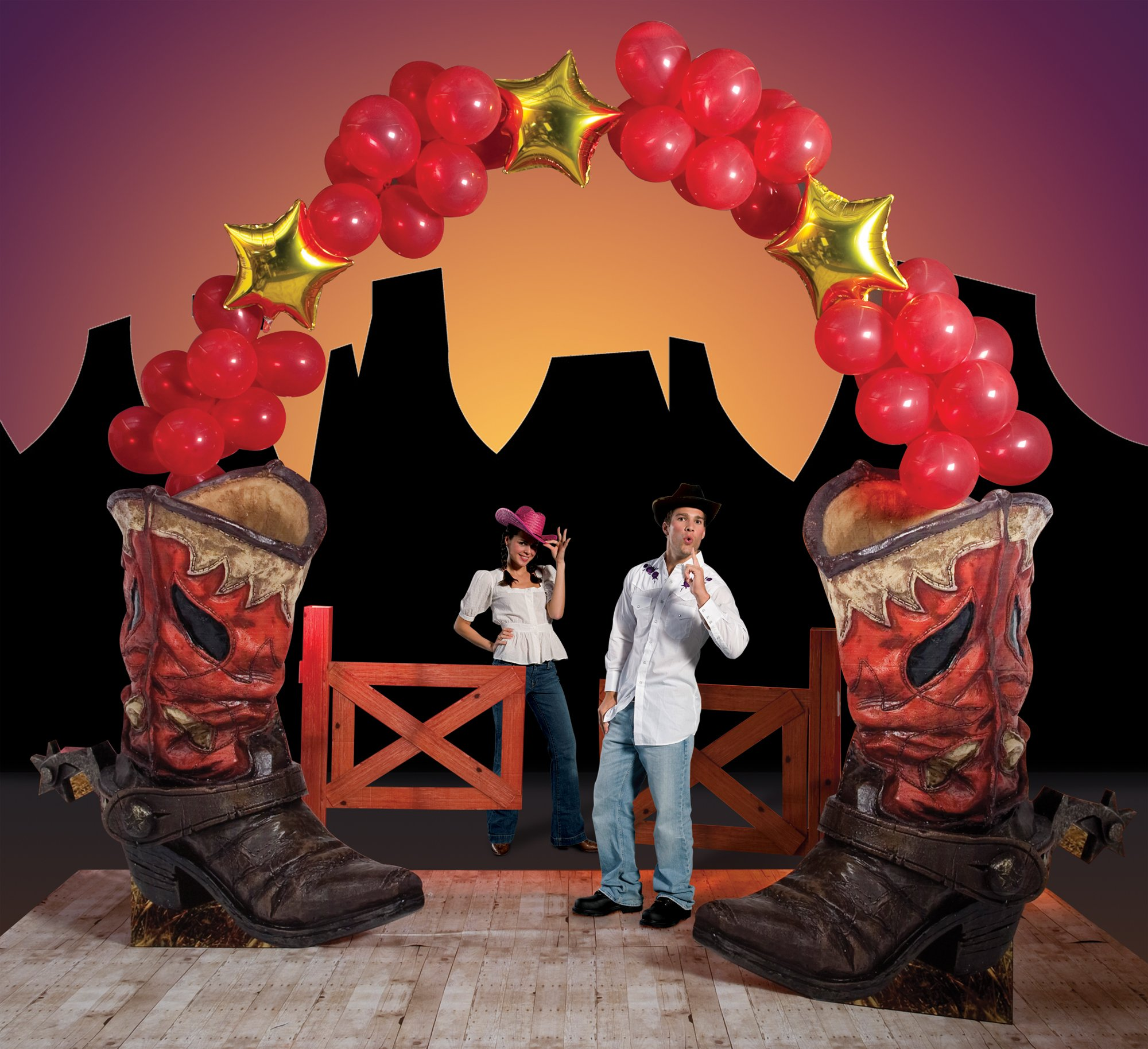 Western Boot Balloon Arch