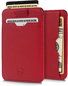 Vaultskin Chelsea ultra-slim leather card-protecting RFID wallet (Carmine Red)
