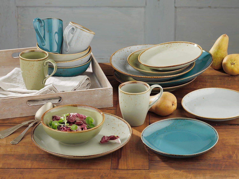 Nicht Zutreffend Nature Collection Blau Lot de 2 Assiettes /à Dessert compatibles Lave-Vaisselle Bleu