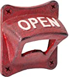 """Abbott Collection 27-IRON AGE/266 Antique Red Square """"Open"""" Wall Opener"""