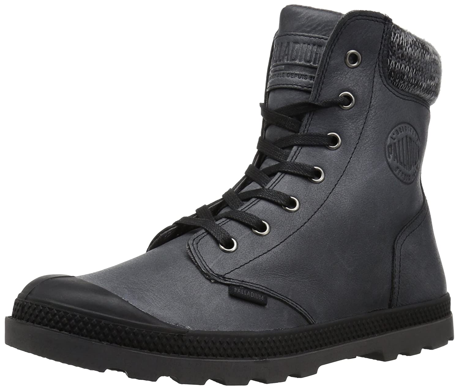 Palladium Women's Pampa Hi Knit Lp Chukka Boot B01N28NA8O 8.5 B(M) US|Black/Forged Iron