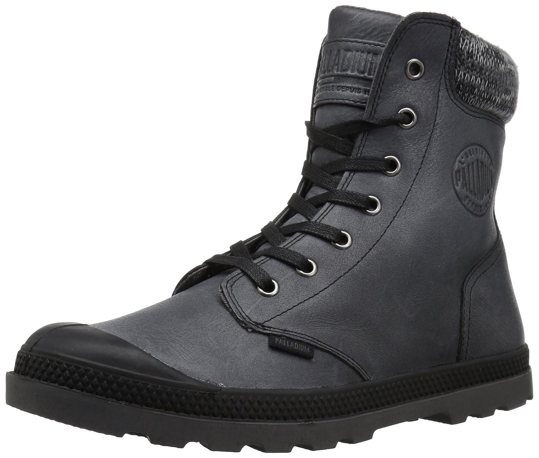 Black Forged Iron Palladium Womens Pampa Hi Knit Lp Chukka Boot