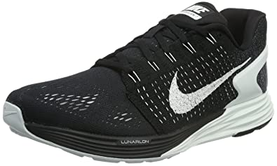 competitive price 850b3 a9cc2 Nike Damen Lunarglide 7 Laufschuhe, Schwarz (Black/Summit White-Anthracite),