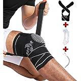 BERTER 膝サポーター スポーツ 神器の保護 膝の衝撃保護 通気性 伸縮性 左右男女兼用 バスケ サッカー アウトドア運動保護 S-LL