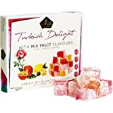 Turkish Delight with Fantastic Rose,Orange and Lemon Mix Flavors (No Nuts) Luxury Lokum Candy Dessert Gourmet Small Box…