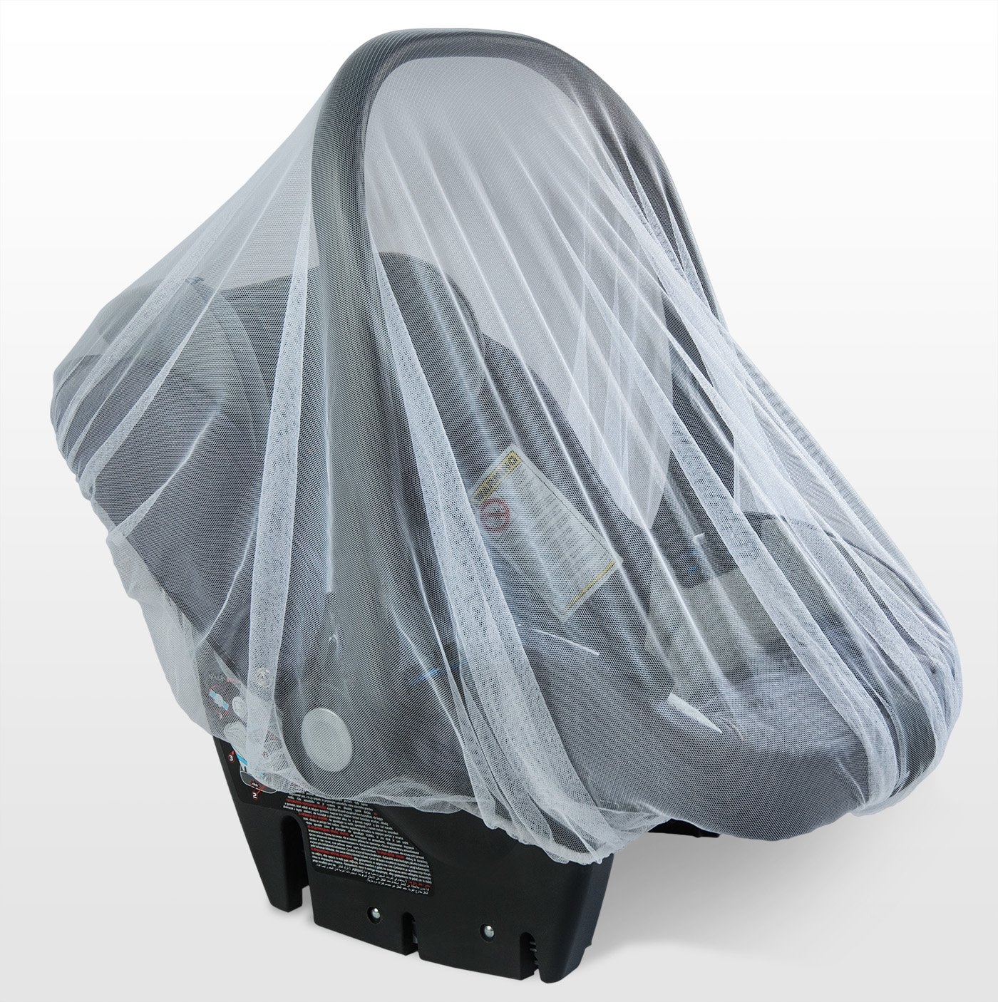 Car Seats 44 x 48 Inch Baby Mosquito Net for Strollers Made of White Cribs Carriers Portable /& Durable Baby Insect Netting Fits Most PacknPlays Cradles Bassinets /& Playpens