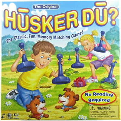 Big Game Toys~ Husker DU? Match The Pictures Memory Matching Board Game with BGT Storage Bag: Toys & Games