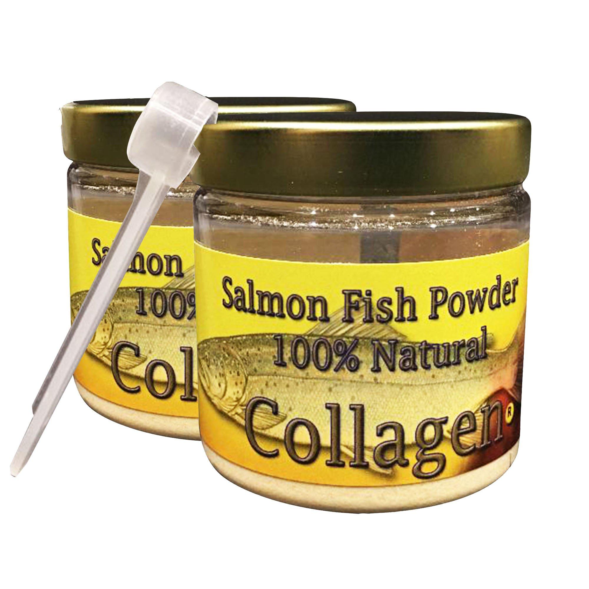 SALCOLL COLLAGEN Natural Salmon Fish Supplement Powder for Joint Pain Relief, Rheumatoid Arthritis & Osteoporosis - Cartilage & Bone Regeneration - 1.23 Oz Each - 2 Pack