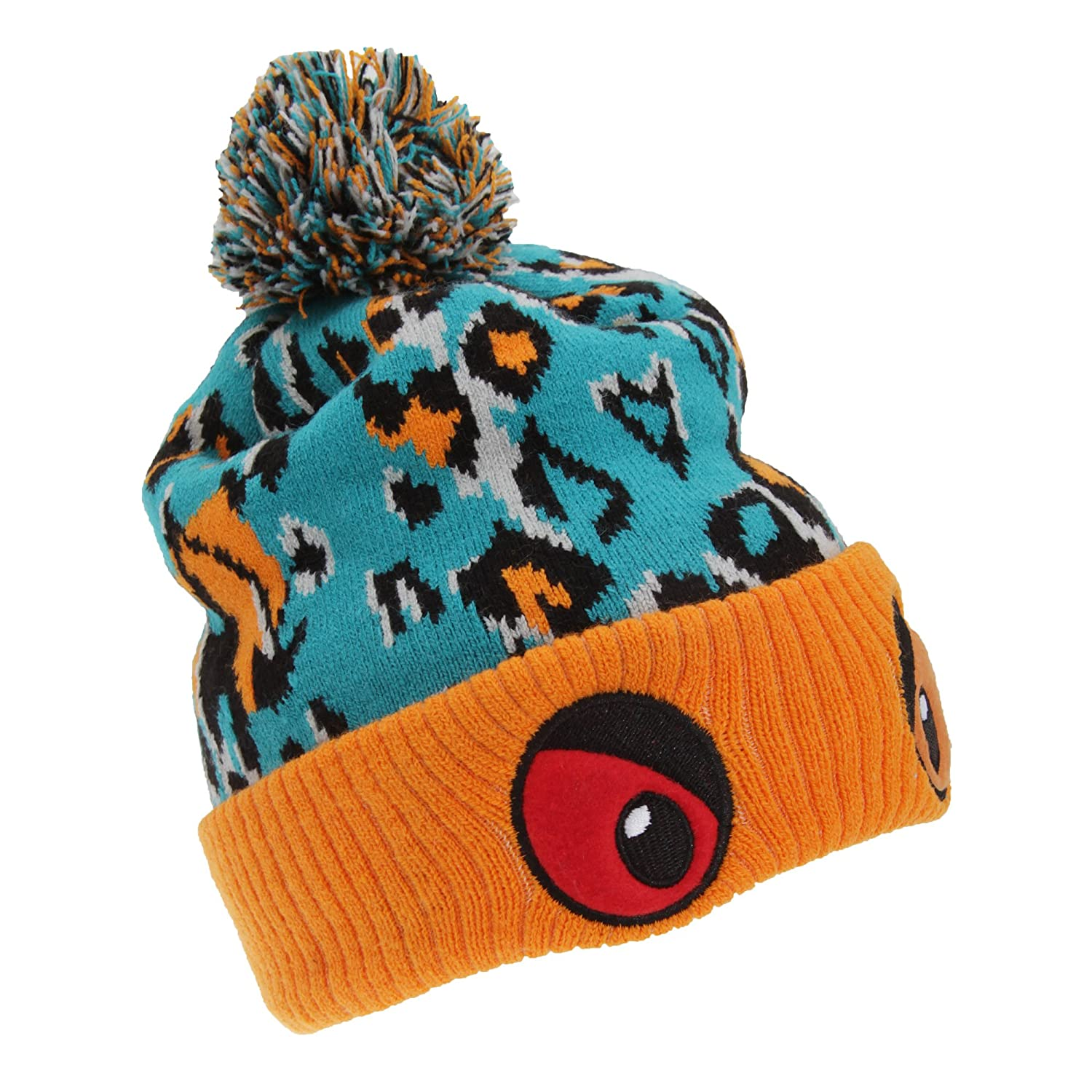 2aa259c8447 Amazon.com  Childrens Kids Monster Eyes Winter Bobble Hat (One Size)  (Blue Fuchsia)  Clothing