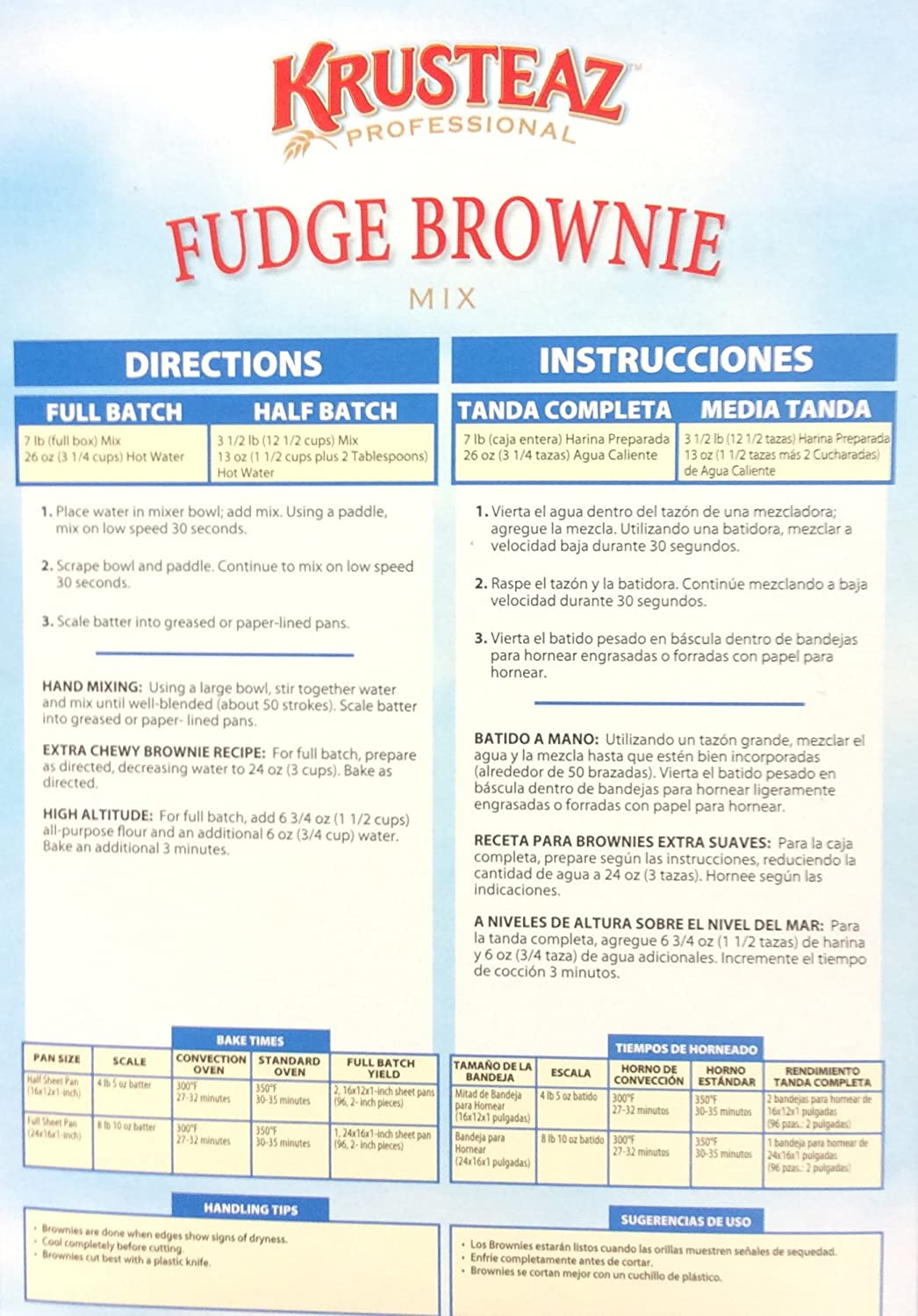 Amazon.com : Krusteaz FUDGE BROWNIE Mix 7lb. (4 Pack ...