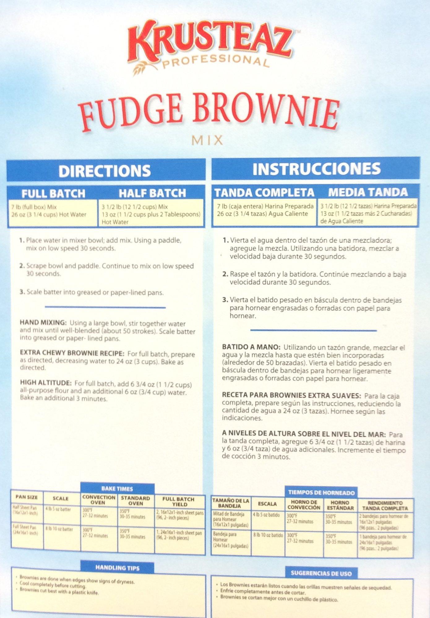Krusteaz FUDGE BROWNIE Mix 7lb. (4 Pack) by Krusteaz (Image #2)