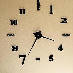 Amazon Co Jp Vktech手作り Diy 壁時計 ウォールクロック ウォールステッカー 時計を壁面に自由自在に設置できます 部屋装飾 模様替えに 簡単 おしゃれ 全10種類 No 10 ホーム キッチン
