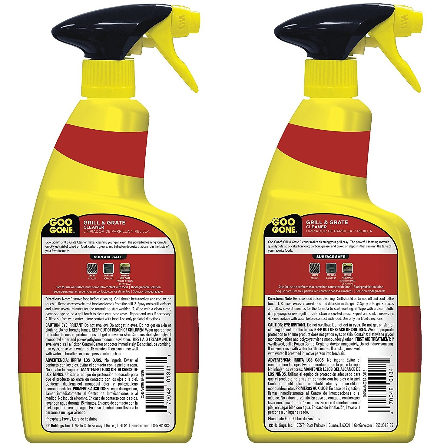 Goo Gone Grill and Grate Cleaner, 24 Ounce - 2 Pack (48 oz total) by Goo Gone (Image #2)