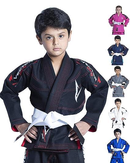 Vector Deportes 100% algodón Pearl Weave Kids Brazillian Jiu Jitsu BJJ Gi Attila Serie Kimono Ligero Tejido Preencogido