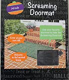 "Screaming Doormat -- Pressure Sensitive - Makes Screaming and Thunder Sounds When Stepped on - 14"" X 10"" - Requires 2 Aa Batteries (Included) - Just Place It Under Your Front Door Mat and Wait!"