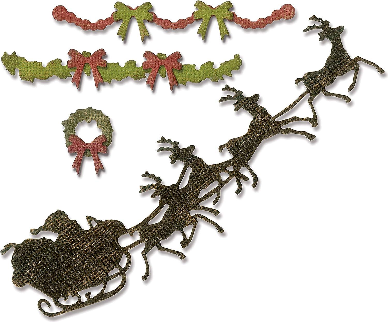 Sizzix Tholtz Thinlits Die Village Christmastime TH