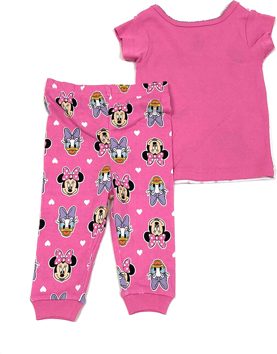 Girls Minnie Mouse /& Daisy Duck Snug Fit Cotton Pajamas