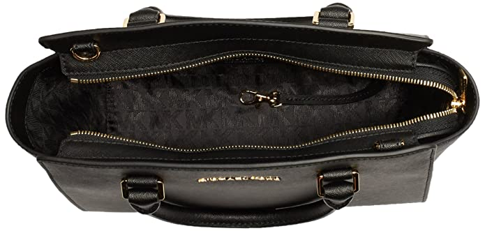 61ed26ae7e1545 Michael Kors Selma, Borsa Tote Donna, Nero (BLACK), 10x23x29 centimeters (W  x H x L): Amazon.it: Scarpe e borse