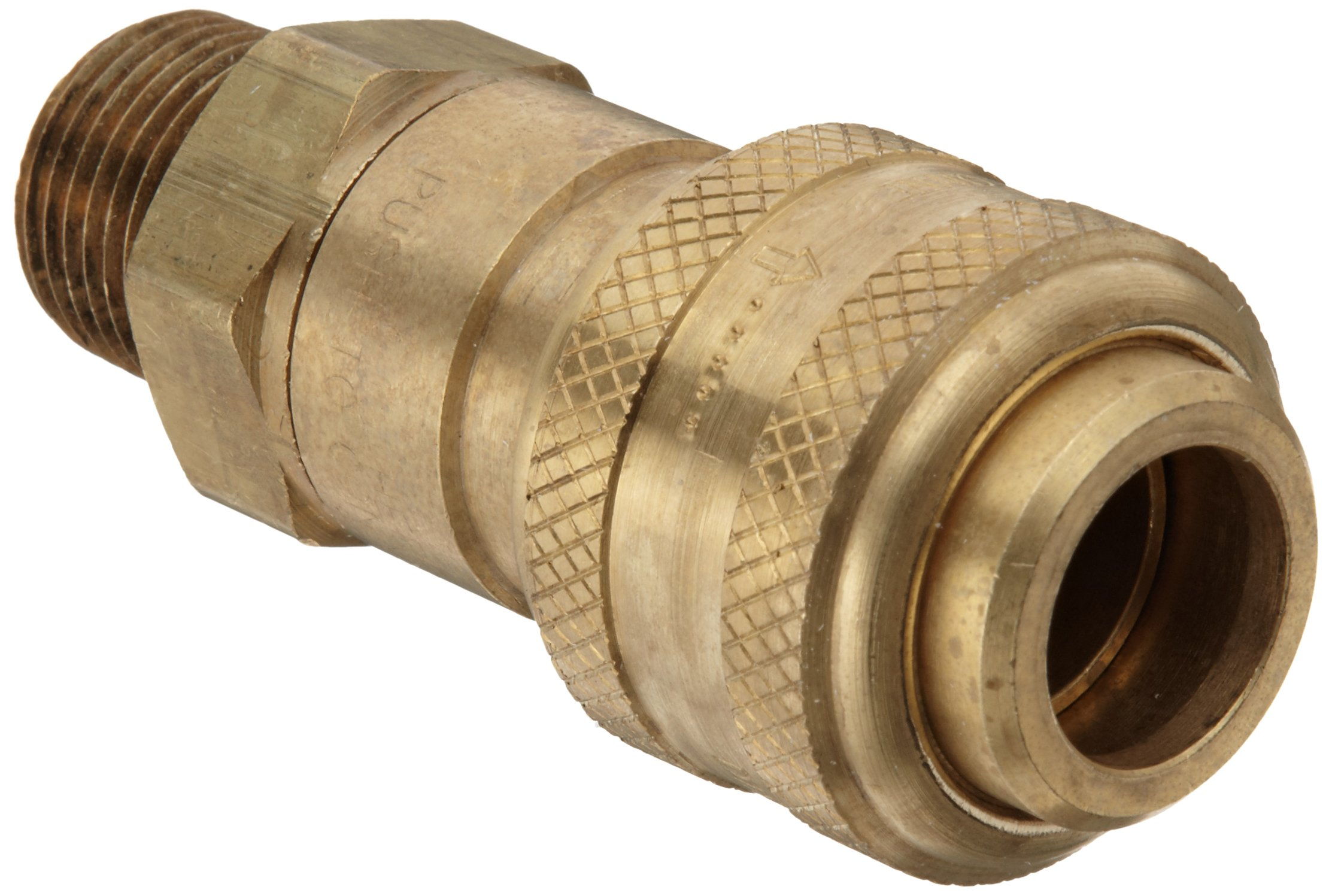 Dixon DCB9 Brass Air Chief Industrial Interchange Quick-Connect Air Hose Fitting, 1/2'' Coupling x 1/2'' NPT Male