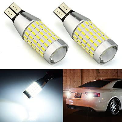 JDM ASTAR Extremely Bright 2000 Lumens 360-Degree Shine 921 912 90-EX Chipsets LED Bulbs For Backup Reverse Lights, Xenon White: Automotive
