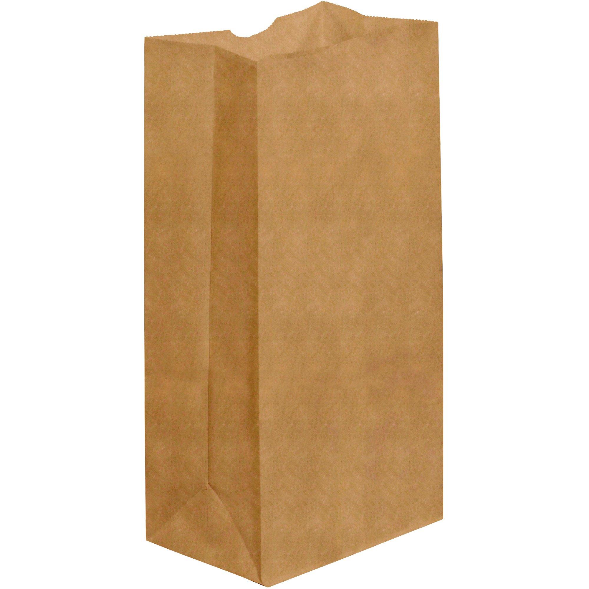 BOX USA BBGG107K Grocery Bags, 7 1/8'' x 4 1/2'' x 13 3/4'', Kraft (Pack of 500)