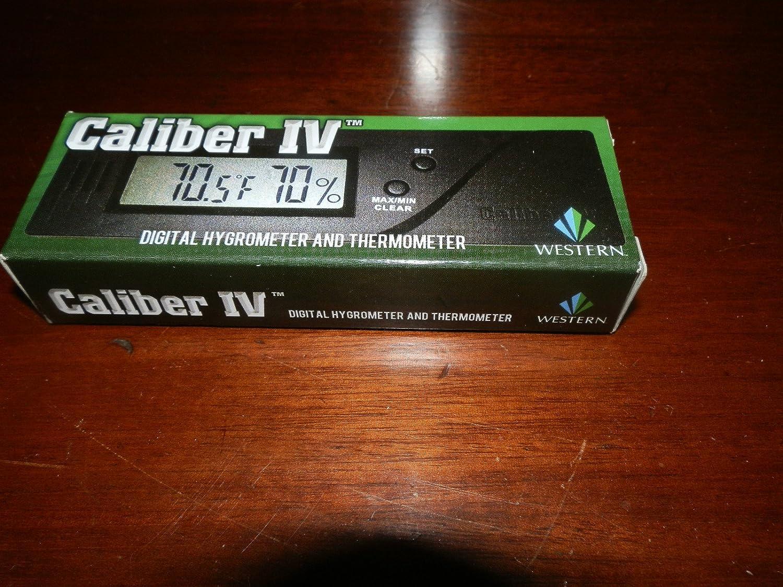 CALIBER IV QUALITY SLIM DIGITAL HYGROMETER W/CALIBRATION ADJUSTMENT WESTERN HUMIDOR