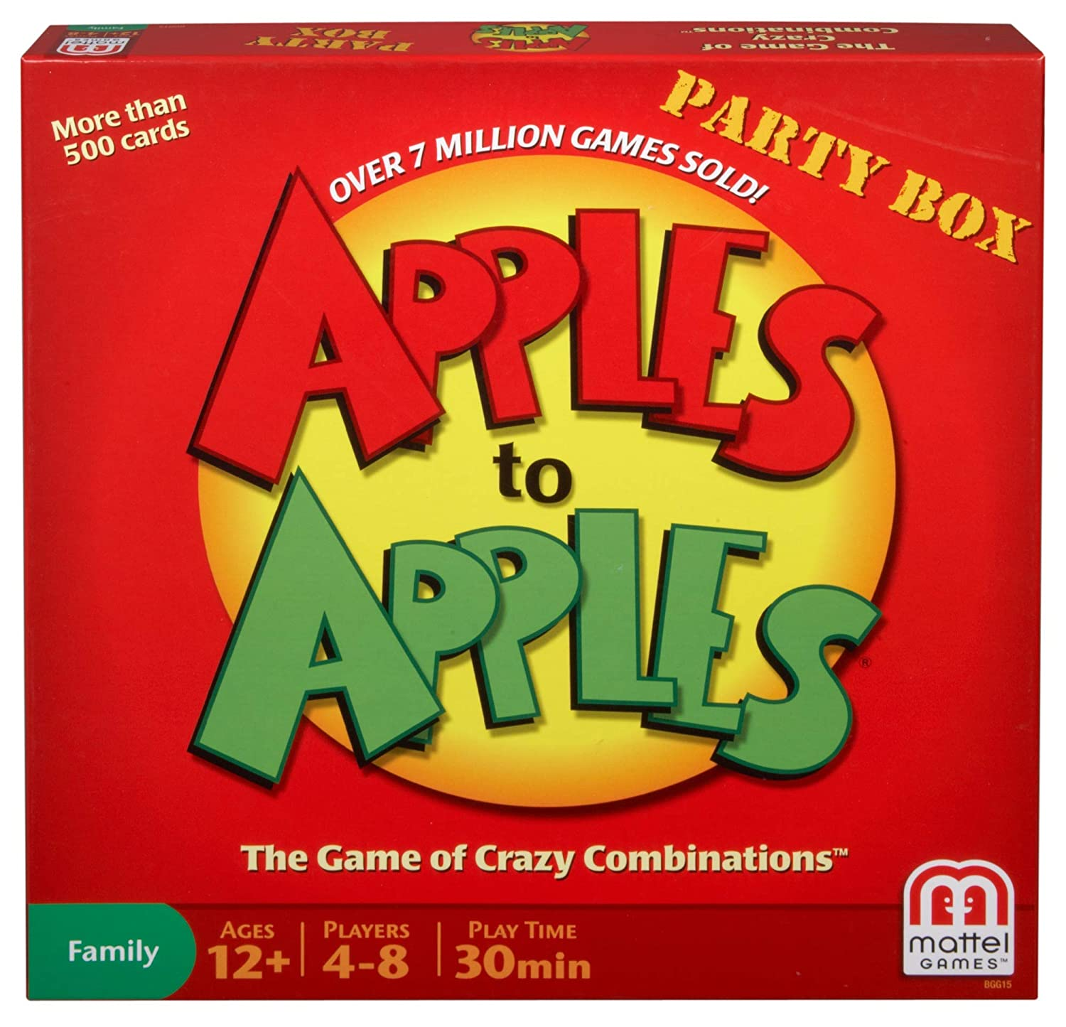 Amazon Mattel Apples To Apples Party In A Box Game Toys Games