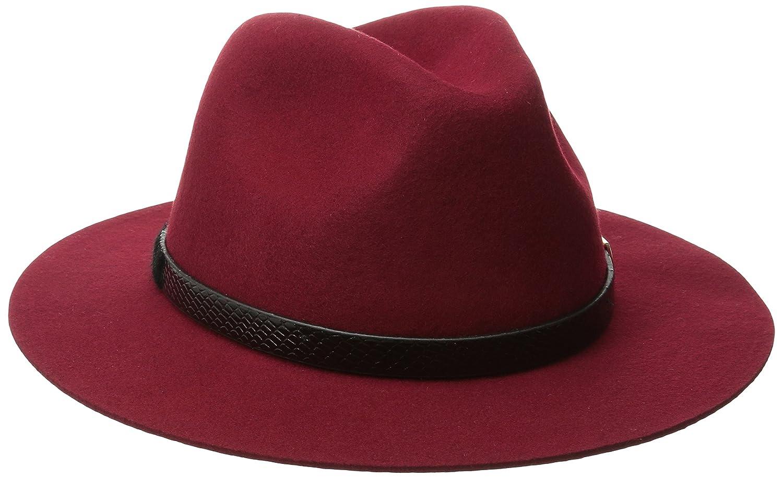 San Diego Hat CompanyレディースAdjustable Fedora withゴールドバックル One Size ガーネット B00V026KYM