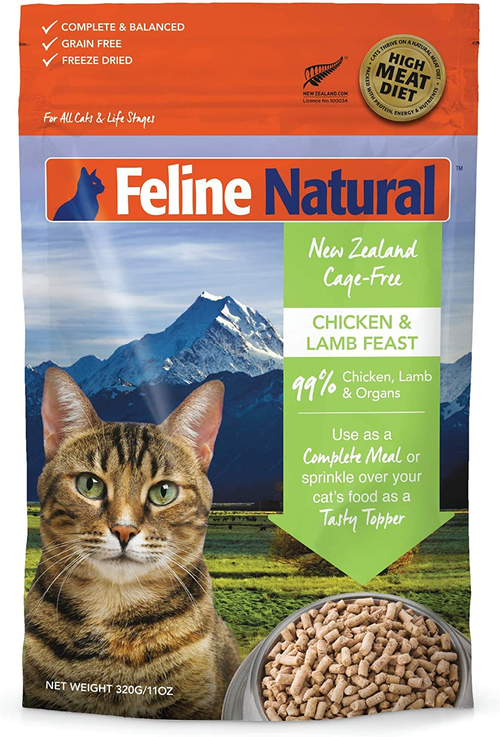 feline natural freeze dried food review