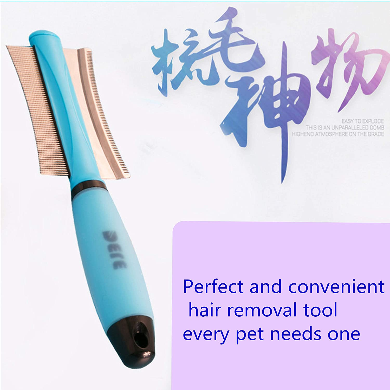 Knots /& Tangles Blue YOUDIWADI Dog Grooming Brush Deshedding Brush-Dog Hair /& Cat Hair Shedding Tool 2 in 1Pet Comb For Safe /& Gentle Dog /& Cat Brush
