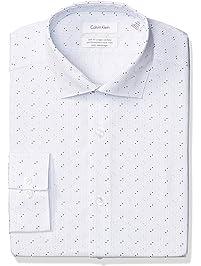 Calvin Klein Mens Non Iron Slim Fit Dress Shirt Dress Shirts
