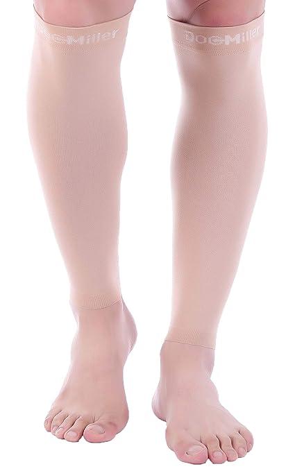 DocMiller - Calcetines de compresión de punta abierta, 1 par de 30 ...