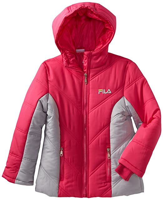 Amazon.com: Fila Big Colorblock chamarra de las niñas: Clothing