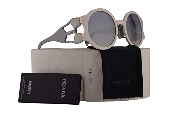 d4f803c802d Amazon.com  Prada PR13US Sunglasses Ivory w Gradient Light Blue Mirror  Silver 54mm Lens YEB5R0 SPR13U PR 13US SPR 13U  Clothing
