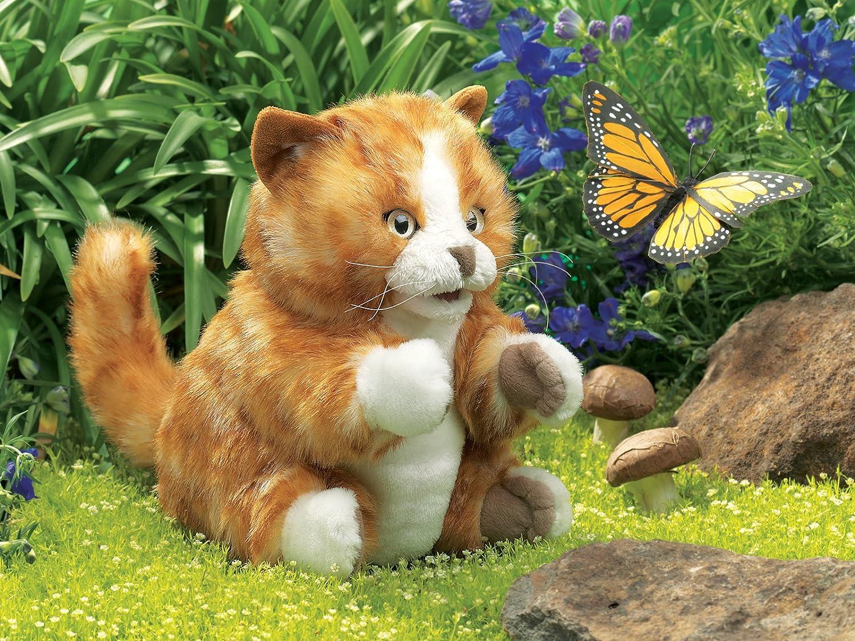 Amazon Folkmanis Orange Tabby Kitten Hand Puppet Toys & Games