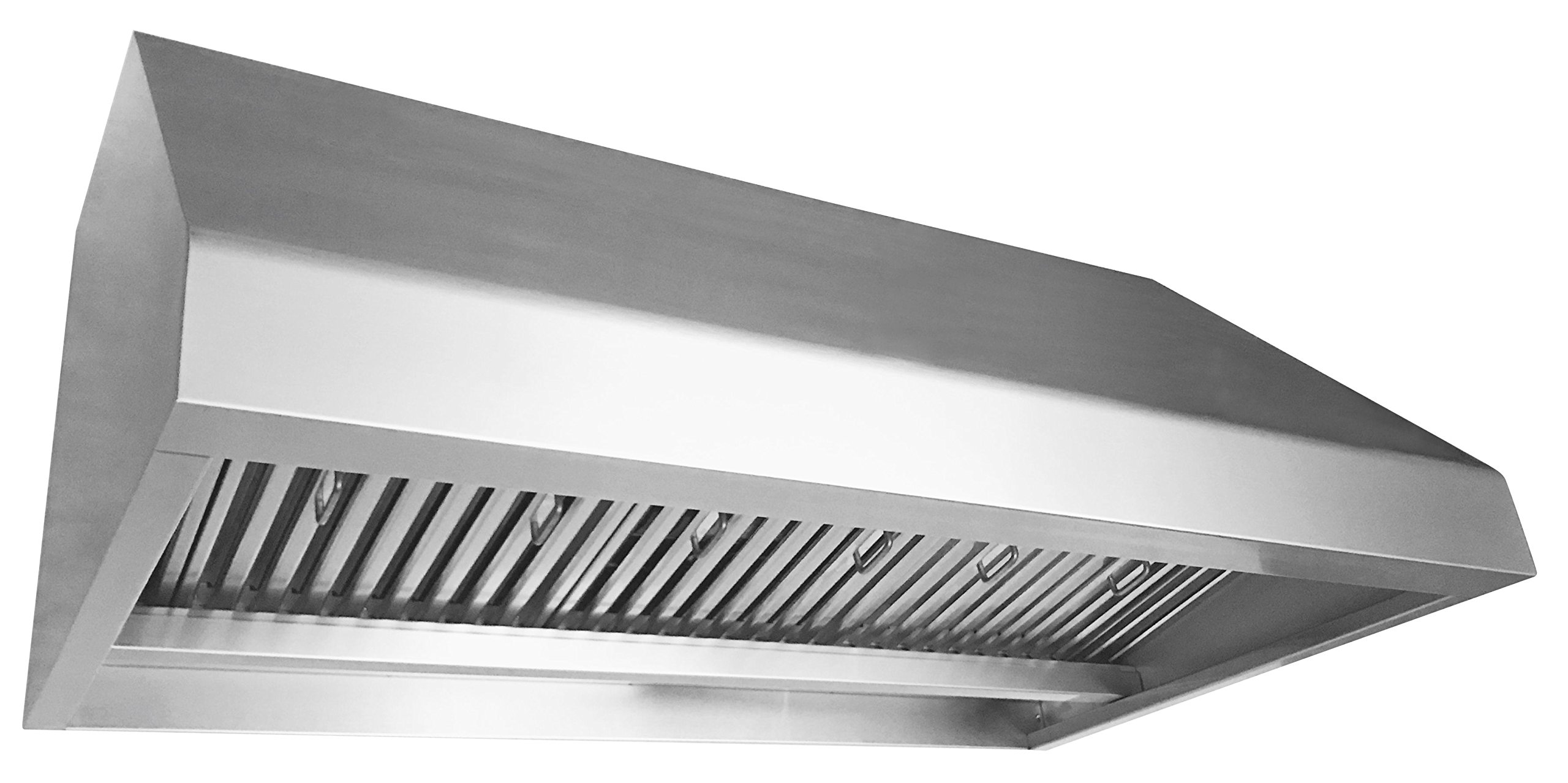 Cycene 42 Inch Professional Series Under Cabinet Stainless Steel Range Hood w/ Baffle Filter @ 1000CFM - CY-RH81PS-42