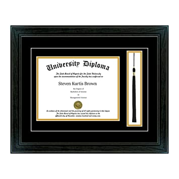 Amazoncom Single Diploma Frame With Tassel And Double Matting For