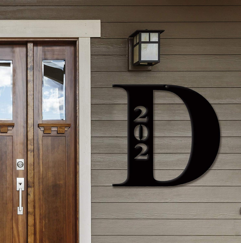 """Decorative Nom Initial adresse porte les numéros de boîte aux lettres Decal Set 6x14/"""""""