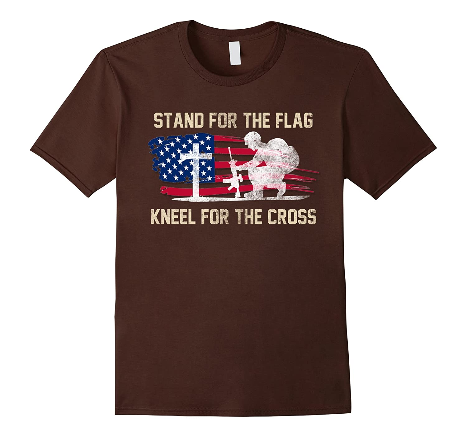 Stand For The Flag, Kneel For the Cross – Veterans Day Shirt