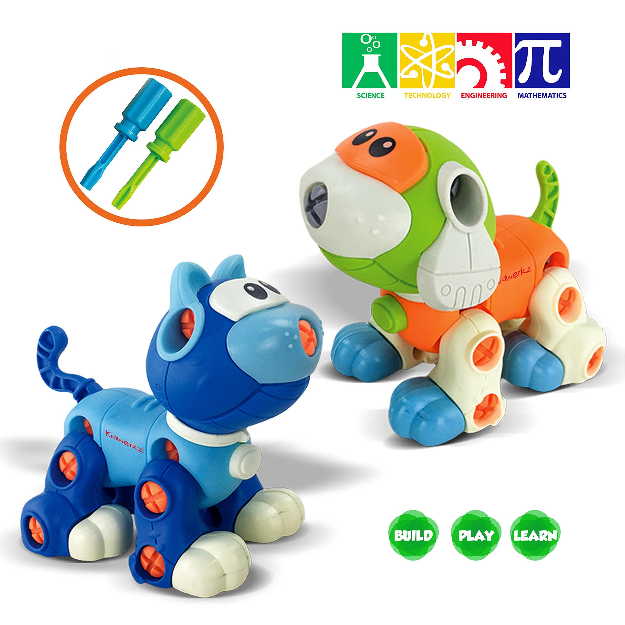 192 pieces Kidtastic Set of 7 Take Apart Toys STEM Building Set
