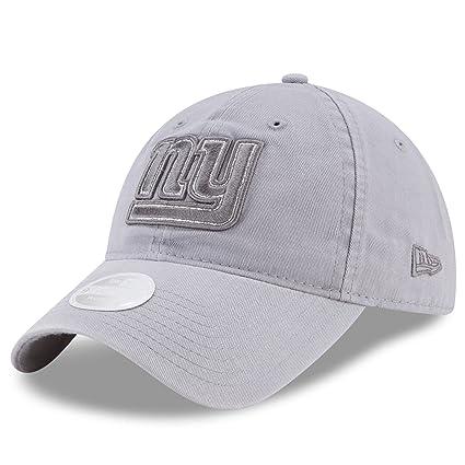 4b1bff98be2d06 Amazon.com : New York Giants New Era Women's Team Glisten 9TWENTY  Adjustable Hat Gray : Sports & Outdoors