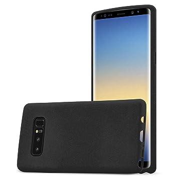 Cadorabo Funda para Samsung Galaxy Note 8 en Frost Negro - Cubierta Proteccíon de Silicona TPU Delgada e Flexible con Antichoque - Gel Case Cover ...