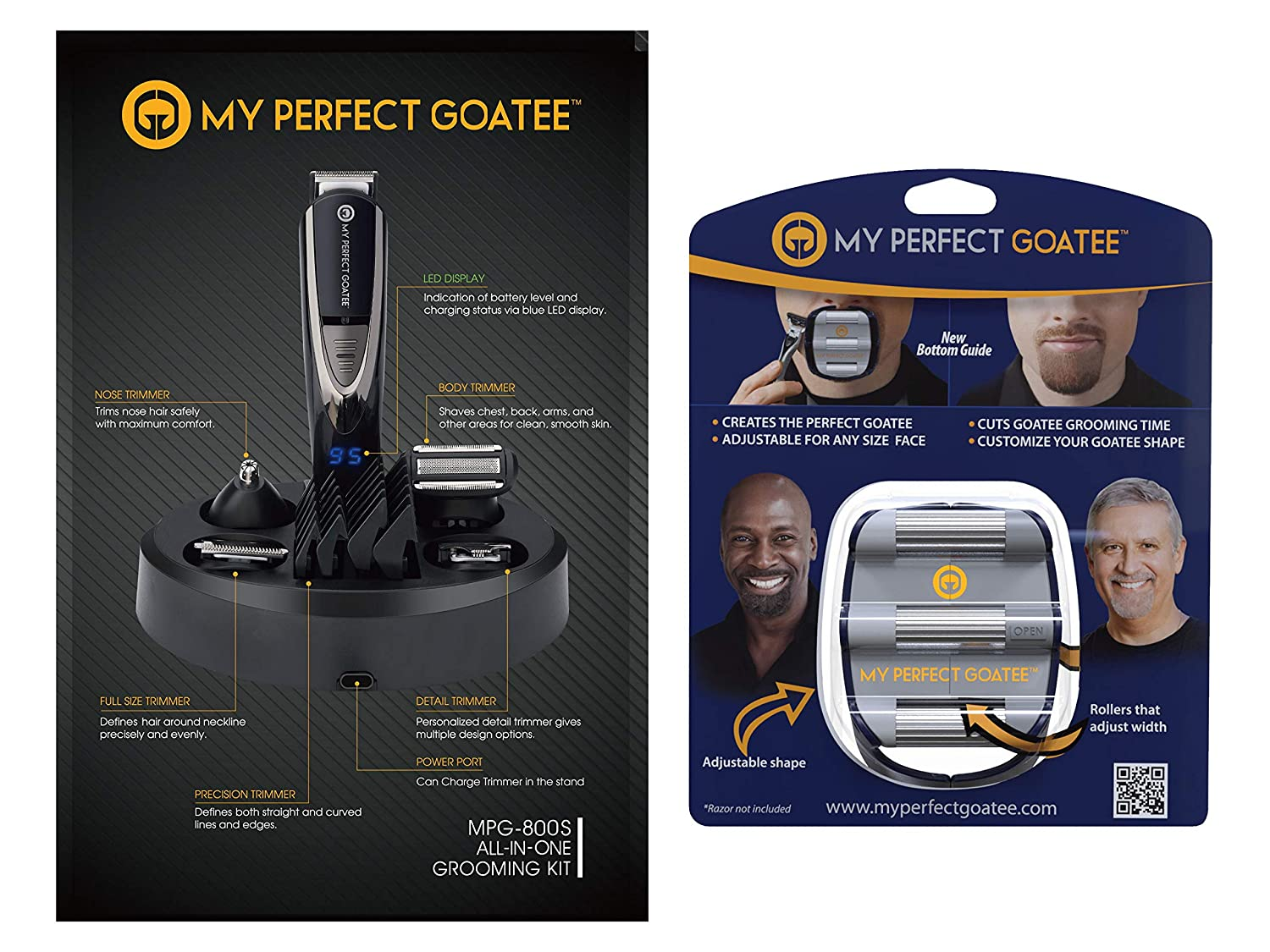 My Perfect Goatee Shaving Template & Beard Trimmer (Goatee & Beard Trimmer plus Goatee Shaving Templat)