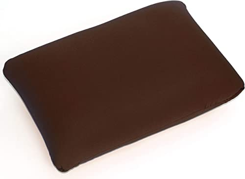 Cushie Pillows 14 inches x 20 inches Microbead Squishy Flexible Comfortable Rectangle Pillow – Brown